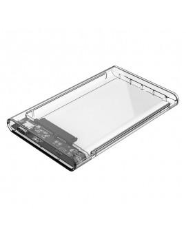 2139C3-G2 2.5 inch Transparent Type-C Hard Drive Enclosure Clear