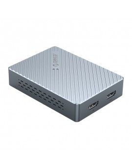 HVC-1080 Aluminum Video Capture Card HDMI To USB3.0 HD 1080P Drive-free Record Game Live Streaming for Camera PC PS3 PS4 TV Grey