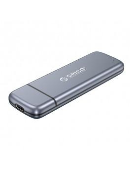 M2L2-N03C3 M.2 SSD Case M.2 NGFF Enclosure to USB3.1 Gen2 Type-C 10Gbps External HDD Hard Drive Case Grey