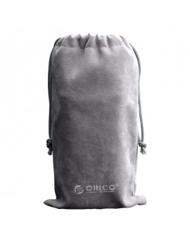 SA1810 Velveteen Storage Bag Phone Earphone Accessories Grey