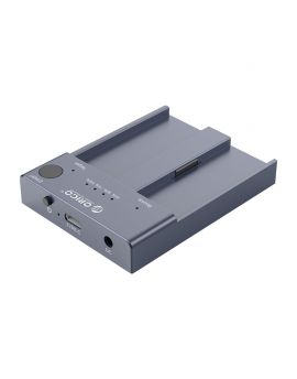 M2P2-C3-C Dual Bay M.2 NVME SSD Enclosure With Offline Clone Function USB-C 3.1 Gen2 10Gbps For M Key & M/B Key NVME PCIe SSD Solid State Drive Grey